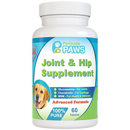 Glucosamine for Dogs Advanced Joint & Hip Supplement with MSM, Chondroitin, Vitamin C & E, Hyaluronic Acid, Omega 3 & Omega 6 - 60 Chewable Tablets (Cosequin Advanced Strength compare prices)