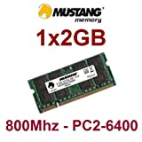 Mustang original 2 GB 200 pin DDR2-800 (PC2-6400) SO-DIMM 128Mx8x16 double side für NOTEBOOKS und NETBOOKS
