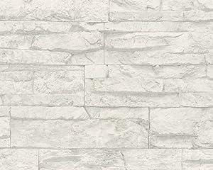Papier peint brique rouge orleans prix artisan pose - Tapisserie imitation pierre ...