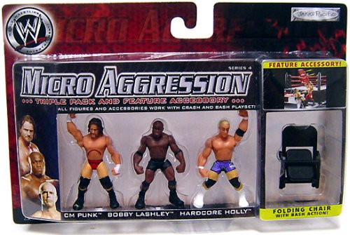 WWE Wrestling Micro Aggression Series 4 Figure 3-Pack CM Punk, Bobby Lashley & Hardcore Holly - Buy WWE Wrestling Micro Aggression Series 4 Figure 3-Pack CM Punk, Bobby Lashley & Hardcore Holly - Purchase WWE Wrestling Micro Aggression Series 4 Figure 3-Pack CM Punk, Bobby Lashley & Hardcore Holly (Jakks, Toys & Games,Categories)