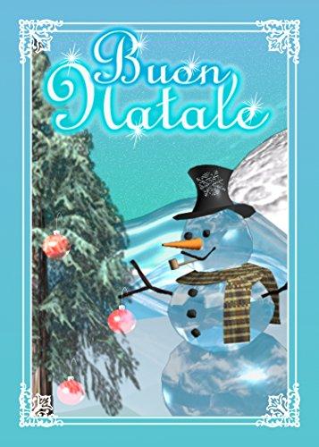 Buon-Natale-Italian-Tree-Snow-Man-Christmas-Greeting-Card