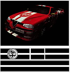 Amazon.com: Alfa Romeo decal racing stripe komplet set