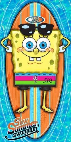 Sponge Bob Slow Summer Fiber Beach Towel