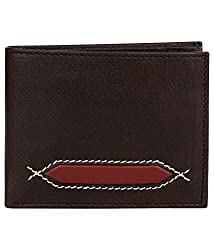 CoudreTM Brown Real Leather Men's Wallet