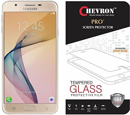 Chevron Premium Tempered Glass Screen Protector Skin Cover for SAMSUNG Galaxy On Nxt / Samsung Galaxy J7 Prime  available at amazon for Rs.99