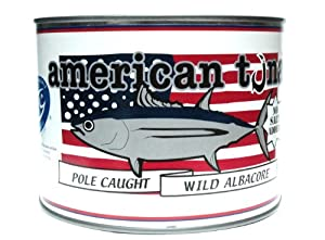 American Tuna MSC Certified Sustainably Caught Albacore Tuna, 66.5oz Can w/ No-Salt Added, Caught & Canned in America (1 Can)