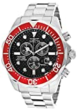 Invicta Men's 12570 Pro Diver Chronograph Black Carbon Fiber Dial Stainless Steel Watch