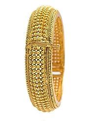 Nainika's Fashion Jewellers Golden Metal Cuff & Kadaa For Women - B00S7SFIVS