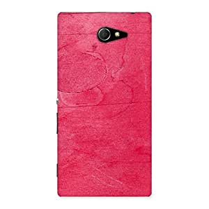 Ajay Enterprises Colorfull Pink Paint Back Case Cover for Sony Xperia M2