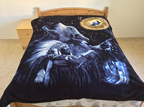 Wolf And The Chief, Mink Style Queen Size Soft & Warm Blanket front-998446