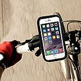 自転車に取り付け携帯ホルダー万能の調節可能な多機能の自転車防水袋 iPhone 5、5S,Galaxy S6,S5、S4、S6など対応, Google Nexus and devices with up to a 5 inch display