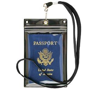 Storesmart Zipper Passport Holder W Lanyard Black Back