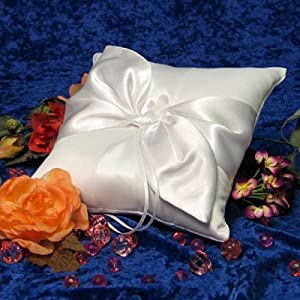 Giselle Bridal/Wedding Ring Bearer Pillow - White - Ring Bearer Pillow