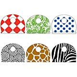 Lucky Line Products Designer Key Identifier Caps, 4 Pack, Assorted (16304)