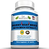Horny Goat Weed with Maca Root Extract Supplement Pills. 1000mg of Horny Goat Weed Powder And 250mg Maca Root Powder. Best Natural Energy Testosterone Booster and Libido Booster for Men and Women.