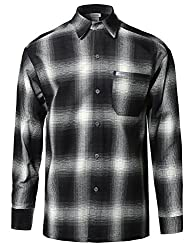 Youstar Men's Long Sleeve Casual Plaid Buttondown Shirt
