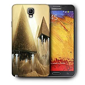 Snoogg Alien Pyramids Printed Protective Phone Back Case Cover For Samsung Galaxy NOTE 3 NEO / Note III