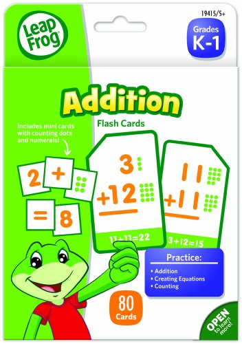 LeapFrog Addition Flash Cards for Grades K-1, Pack of 80 (19415)
