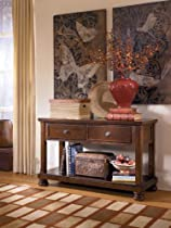 Big Sale Rustic Brown Console Sofa Table - Signature Design by Ashley Furniture
