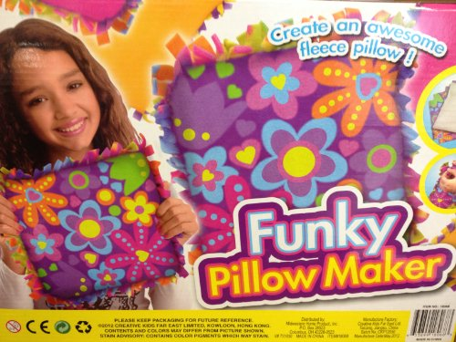 Funky Pillow Maker Craft Kit -Purple with Flowers - 1