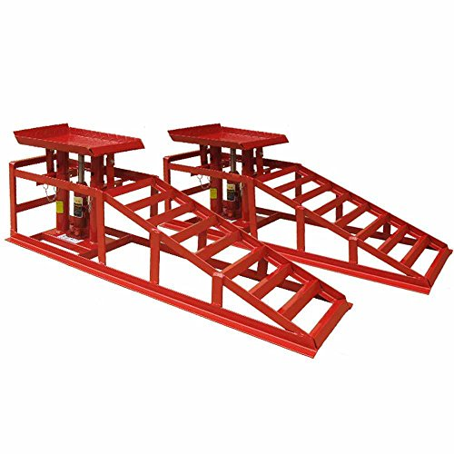 deetr-heavy-duty-car-van-lifting-ramps-with-2-ton-jack-professional-hydraulic-jack-kit-red
