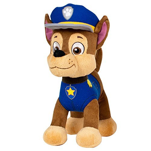 Patrulla-canina-PAW-PATROL-Peluche-personaje-Chase-Pastor-Aleman-Policia-20cm-de-pie-Calidad-super-soft-Color-Azul