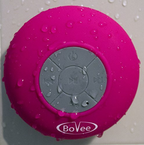Bovee Waterproof Bluetooth Shower Speaker And Hands-Free Speakerphone For Iphone 5, 5S, Ipad, Android And All Other Wireless Bluetooth Smart Phones, Tablets, And Devices (Yellow)
