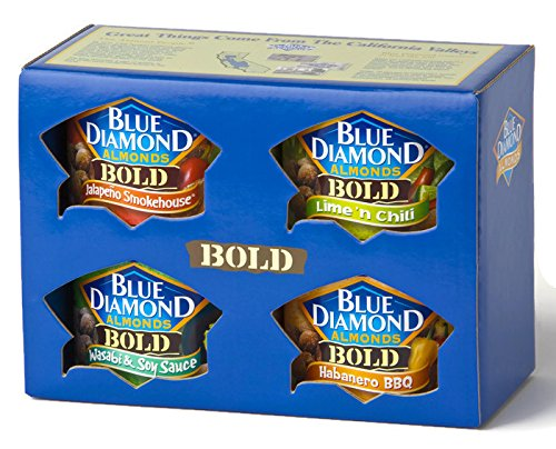 Blue Diamond BOLD 4 Can Variety Gift Pack (bold) (Blue Diamond Almonds Chili Lime compare prices)