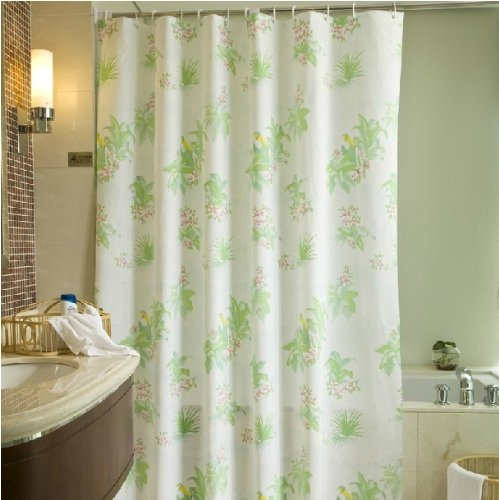 Upscale Fine Spring Day Thick Pvc Waterproof Shower Curtain front-443459
