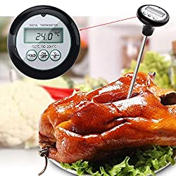 LussoLiv Digital LCD BBQ Barbecue Thermometer Probe Food Meat Kitchen Measuring Tool