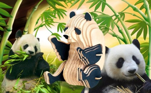 Puzzled Panda Natural Wood 3D Puzzle