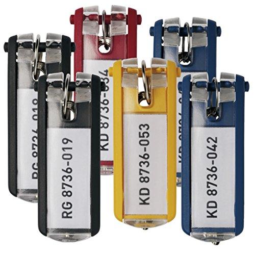 Durable - Llavero con etiqueta siempre visible (6 unidades, varios colores)