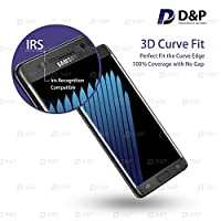 D&P Samsung Galaxy Note 7 3D Curve Fit Tempered Glass Screen Protector,Perfect Fit / Anti-Fingerprint / High-Transparency / Can't Fit All the Cases / Anti-Bubbles / Anti-Scratch[1+1 pack][Black Onyx] from D&P