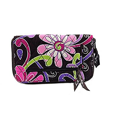 Vera Bradley Zip Around Wallet Purple Punch