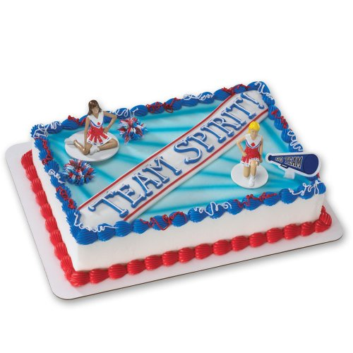Cheerleading DecoSet Cake Decoration