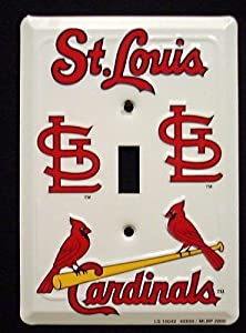St Louis Cardinals MBL Aluminum Novelty Single Light Switch Cover Plate