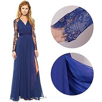 Merope J Women's Casual Deep- V Neck Sleeveless Vintage Maxi Dress