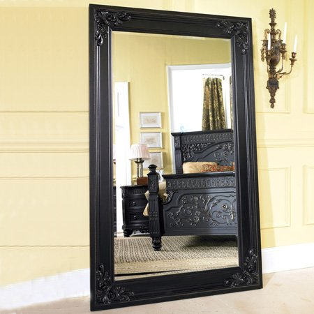 Discount mirrors britannia rose framed floor mirror for Framed floor mirror