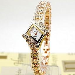 best wrist watches Sporting Goods Exercise & Fitness bracelet wrist watch women Women Alloy Crystal Quartz Rhombus Bracelet Bangle Wrist Watch