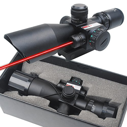 Great Deal! CVLIFE Optics Hunting Rifle Scope 2.5-10x40e Red & Green Illuminated Crosshair Gun Scope...