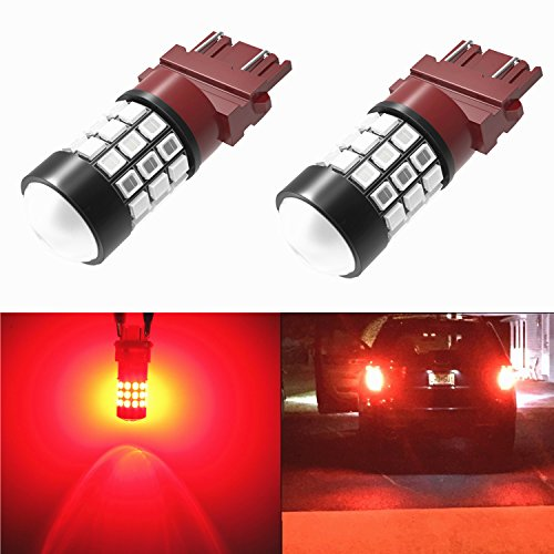 Alla Lighting 39-SMD Brilliant Pure Red 3157 3156 High Power 2835 Chipsets LED Lights Bulbs for Replacing Turn signal Blinker Brake Tail Light Lamps (Taillights For Toyota Tundra 2010 compare prices)