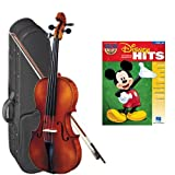 Strunal 1750 Student Violin Disney Hits Play Along Pack - 3/4 Size European Violin w/Case & Play Along Book