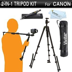 amazon   vivitar 2 in 1 tripod and shoulder stabilizer