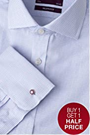 Slim Fit Luxury Sartorial Pure Cotton Grid Checked Shirt