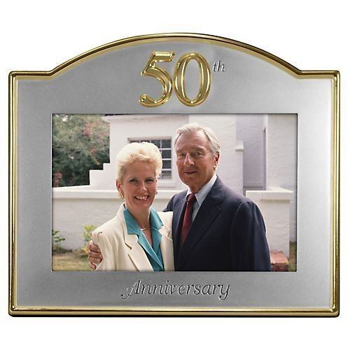 50th Anniversary 4x6 Goldtone FrameB0006H4DUA