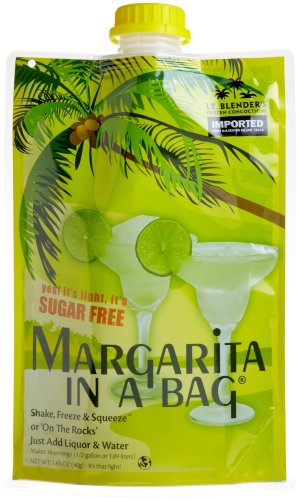 Lt. Blender's Frozen Concoctions, Sugar Free Margarita in a Bag, 1.41-Ounce Pouches (Pack of 3)