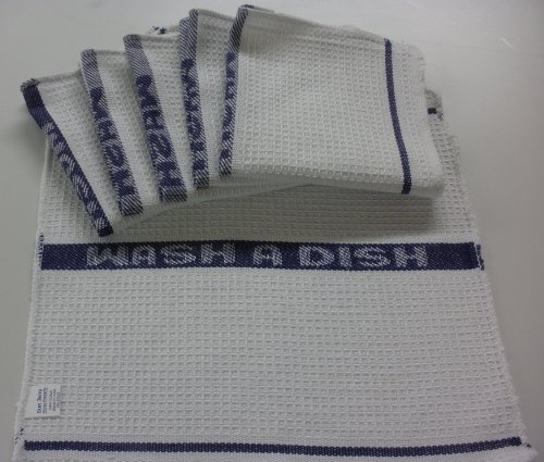 Set of 6 Sage Green Waffle Weave Dish Cloths