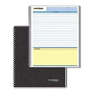 Mead Cambridge Limited Business Notebook Legal Ruled/Action Planner 2 subject (06070)