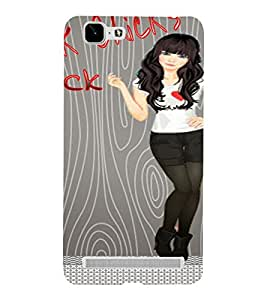 PrintVisa Punk Rock Girl Art 3D Hard Polycarbonate Designer Back Case Cover for VivoX5MAX