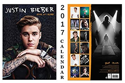 Justin Bieber Official 2017 Calendar + Justin Bieber Warning Door Sign